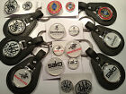 GUN/FIREARMS SILVER PLATED BADGE SETS,  & LEATHER KEY RINGS: BERETTA + LOTS MORE
