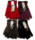 Ladies Fleece Gloves Thinsulate Insulation Winter Warm Womens One Size