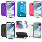 For Samsung Galaxy Note II 2 TPU Wrap Case With Built in Screen Protector B52U