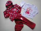 BNWT Peppa Pig 3pcs Fleece hoodie tracksuit outfit Size 1-5