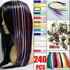 Solid Colour Feather Hair Extensions Wits Free Beads Women Girl Party Make-up