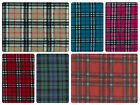 "Antipil Polar Fleece Fabric - Tartan Patterns -59"" (150cm) wide - per metre/half"