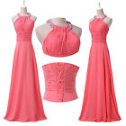 2014 New Sexy Halter Beaded Women Long Bridesmaid Gown Cocktail Prom Party Dress