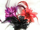 Glitter Fabric FLOWER HAIR CLIP Grip Slide CORSAGE Brooch Pin Colour Choice