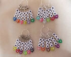 Knitting or Crochet Stitch Markers Mum Nan Set of 6