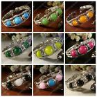 New in Tibet style Tibetan silver charming beads bracelet bangle (12 color)