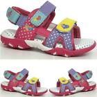 GIRLS SUMMER SANDALS INFANTS NEW BABY TODDLERS WALKING VELCRO BEACH SHOES SIZE