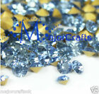 Light Sapphire Blue Round Point Back Glass Chaton Rhinestones, Crystal Beads