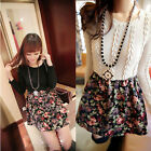 Korean Style Women Floral Rose Print Knitted Casual Cocktail Sweater Dress nxh51