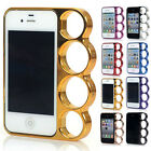 Newfangled Rings Knuckles Snap On Bumper Frame Case Cover For Apple iPhone 4 4S