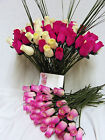 FREE MOTHERS DAY GIFT CARD HOT PINK CERISE IVORY WOODEN ROSES GRASSES WHOLESALE
