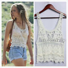 NEW Sexy Hollow Out Crochet Lace Floral Tank Top T Shirt Vest Cape Cami Blouse