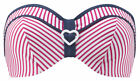 NEW Cleo by Panache Lucille Bandeau Bikini Top CW0063 Strawberry SELECT SIZE