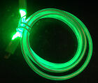 """39"""" LED GLOW EL light MICRO USB charger cable FOR samsung galaxy s6+ edge note 5"""