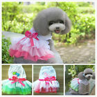 Various Pet Dog Cat Lace Tutu Dress Apparel Skirt Love Mom Princess Party Dress