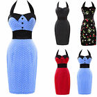 Retro Vintage Polka Dot Party Rockabilly 50's Style Pencil Business Career Dress