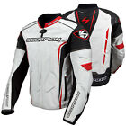 Scorpion Sports Clutch White / Red Leather Motorcycle Riding Jacket
