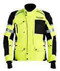 New Men's Triumph Motorcycles Hi-Vis Yellow & Black Expedition Motorcycle Jacket