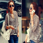 Chic New Womens Chiffon Sexy Leopard Print Shirts Tops Button Down Blouse XS S M