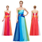 Designer Long Chiffon Formal Party Bridesmaid Wedding Gown Evening Prom Dresses