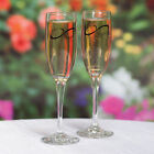 Personalized Wedding Toasting Flutes  Engraved Names Infinity Champagne Glasses