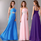 STOCK Long Prom Ball Cocktail Party Bridesmaid Dress Bridal Formal Evening Gown