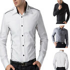 3 Colour Casual Stylish Dress shirts Mens Long Sleeves S-XL Fashion JS PJ Hot