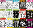 Tattoo Flash Books - Script, Japanese, Sketch, Sheets, Skulls, Design, Lettering