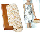 Retro Lace Wooden Purse Handle Evening Banquet Party Clutch bag Handbag vintage