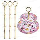 3 X 3 Tier Cake Plate Stand Fittings Handle Silver Gold Color for Wedding Party