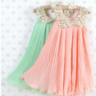 New Girls Sequin Pink Party Flower Pleated Dress Age 2 3 4 5 6 Years