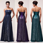 Noble Sequins Ball Gown Evening Prom Bridesmaid Party Dress Size 6 8 10 12 14 16