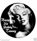 "MARILYN MONROE 20 x 2"" or Large 7.5"" Edible Cake Toppers Rice Paper PERSONALISED"