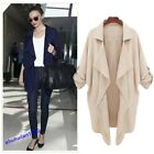 New Women's Coat Jackets Spring Autumn Long Sleeve Outerwear 2Color 4Size