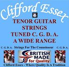 TENOR GUITAR STRINGS. C G D A. MEDIUM, LIGHT & HEAVY GAUGE SETS. LOOP/BALL END