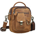 New Men's Genuine Leather Fanny Waist Shoulder Chest Bag Backpack Sling Case