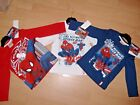 NEW BOYS ULTIMATE SPIDERMAN LONG SLEEVE TOP T SHIRT RED WHITE NAVY 2 3 4 5 6 7 8