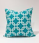 True Turquoise Gotcha Chain Links Throw Pillow Cover Pillow Case Chose your Size