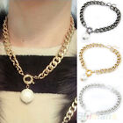 Womens Ladies Metal Chain Pearl Necklace Fashion Bridal Pendant Collar Necklace