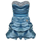 BNWT Diamond Blue Puffball Monroe Cocktail Party Prom Graduation Satin Dress