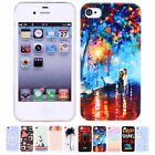 Cute Lovely New Pattern Painted Phone Hard Back Skin Case Cover For iPhone 4 4S