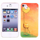 Sweet Patterns Polycarbonate Snap On Phone Skin Case Cover Of Apple iPhone 4/4S