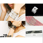 HOT FASHION LEATHER WRISTBAND BRACELET Multi-Layer Ladies