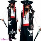 High Seas Buccaneer Pirate Captain Adult Mens Fancy Dress Costume Sizes S M L XL