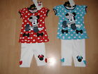 NEW GIRLS DISNEY MINNIE MOUSE LEGGING SET RED WHITE BLUE AGES 2 3 4 5 6 7 8