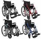 FoxHunter Self Propelled Folding Lightweight Transit Wheelchair Armrest Brake