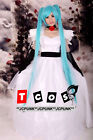 Hatsune Vocaloid Miku Cendrillon White Cosplay Costume Dress with petticoat 6pcs