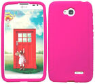 HOT PINK Silicone Case Skin Gel Cover for LG Optimus L70