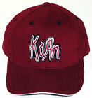 KORN HAT/CAP Burgundy Maroone Red Authentic Licensed NEW