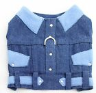 CHIHUAHUA/PUPPY/SMALL DOG/ FAUX DENIM VEST HARNESS - SIZE XS & S